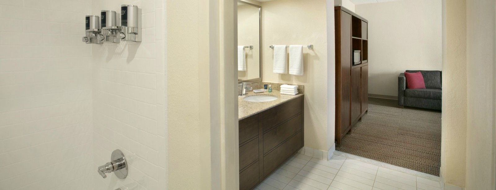 North Raleigh Accommodations - King Suite Guest Bathroom